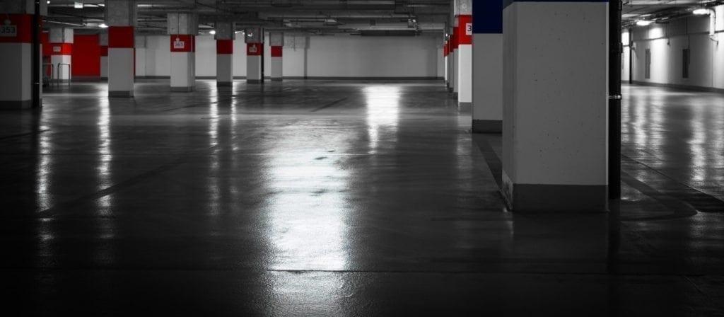 parking garage cleaning